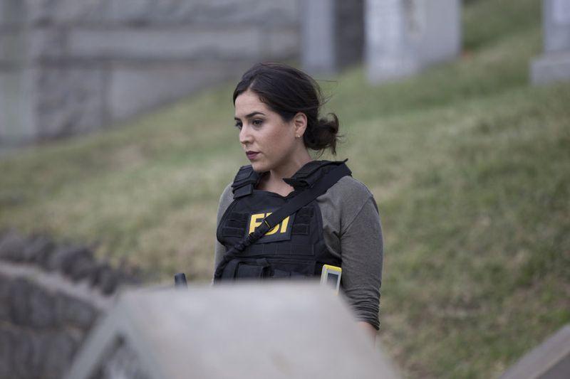 "BLINDSPOT -- ""Split The Law"" Episode 105 -- Pictured: Audrey Esparza as Tasha Zapata -- (Photo by: Paul Sarkis/NBC)"