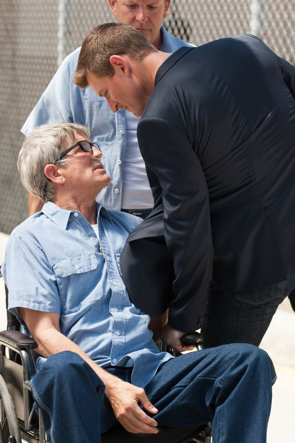 """THE PLAYER -- """"The Big Blind"""" Episode 103 -- Pictured: (l-r) Eric Roberts as Pauly Agostino, Philip Winchester as Alex -- (Photo by: Colleen Hayes/NBC)"""