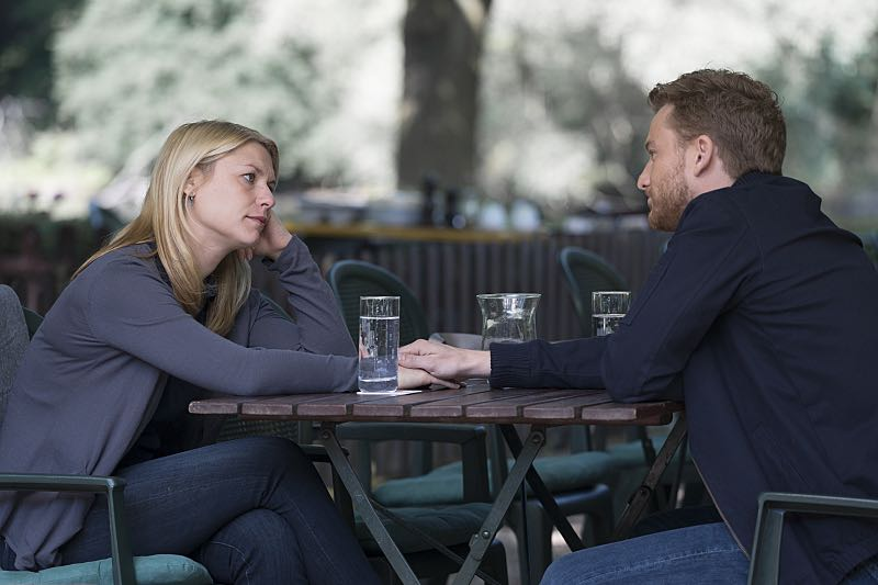 Claire Danes as Carrie Mathison and Alexander Fehling as Jonasin Homeland (Season 5, Episode 3). - Photo: Stephan Rabold/SHOWTIME - Photo ID; Homeland_503_1133.R