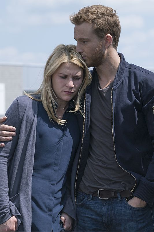 Claire Danes as Carrie Mathison and Alexander Fehling as Jonas in Homeland (Season 5, Episode 3). - Photo: Stephan Rabold/SHOWTIME - Photo ID; Homeland_503_0928.R
