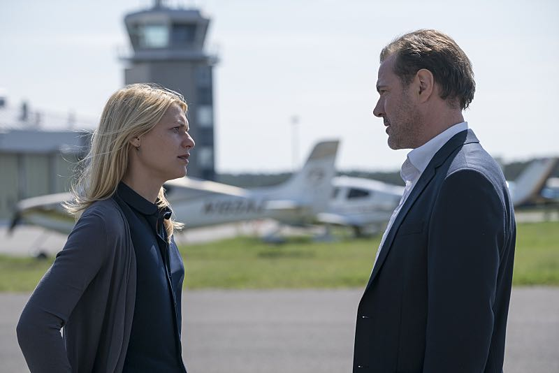 Claire Danes as Carrie Mathison and Sebastian Kock as Otto During in Homeland (Season 5, Episode 3). - Photo: Stephan Rabold/SHOWTIME - Photo ID; Homeland_503_0423.R