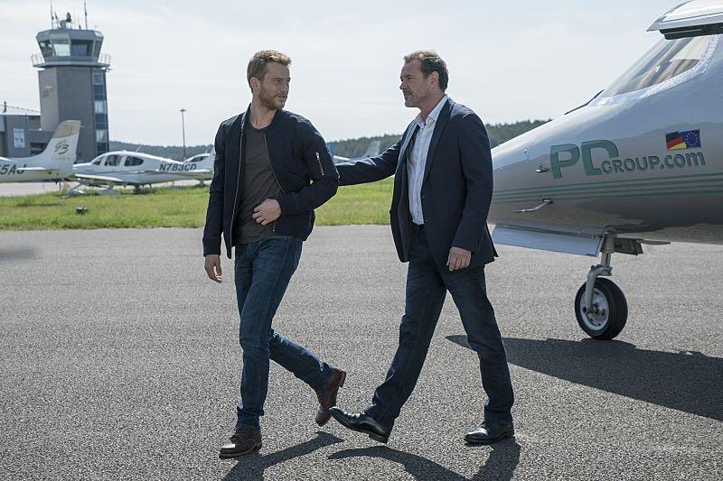 Alexander Fehling as Jonas and Sebastian Koch as Otto During in Homeland (Season 5, Episode 3). - Photo: Stephan Rabold/SHOWTIME - Photo ID; Homeland_503_0255.R