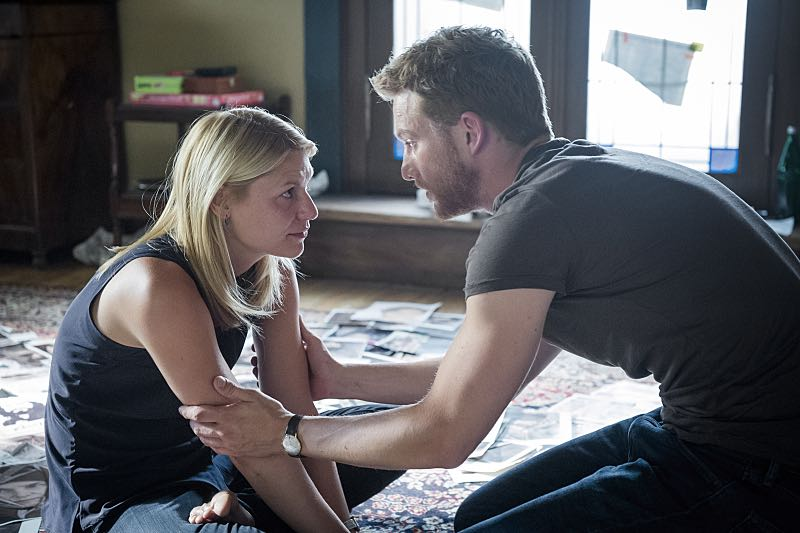 Claire Danes as Carrie Mathison and Alexander Fehling as Jonas in Homeland (Season 5, Episode 3). - Photo: Stephan Rabold/SHOWTIME - Photo ID; Homeland_503_5645.R