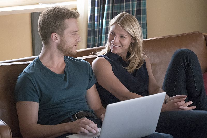 Alexander Fehling as Jonas and Claire Danes as Carrie Mathison in Homeland (Season 5, Episode 3). - Photo: Stephan Rabold/SHOWTIME - Photo ID; Homeland_503_5097.R