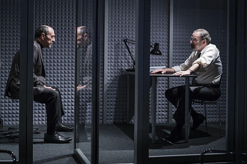 F. Murray Abraham as Dar Adal and Mandy Patinkin as Saul Berenson in Homeland (Season 5, Episode 3). - Photo: Stephan Rabold/SHOWTIME - Photo ID; Homeland_503_3020.R