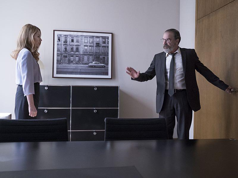 Miranda Otto as Allison Carr and Mandy Patinkin as Saul Berenson in Homeland (Season 5, Episode 3). - Photo: Stephan Rabold/SHOWTIME - Photo ID; Homeland_503_2861.R
