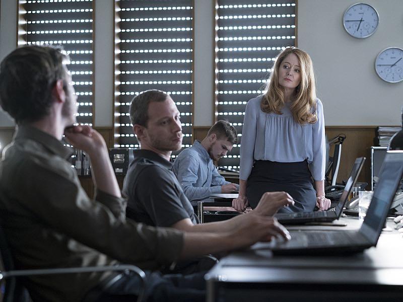 Max Mauf as Gregor, Miranda Otto as Allison Carr and Micah Hauptman as Mills in Homeland (Season 5, Episode 3). - Photo: Stephan Rabold/SHOWTIME - Photo ID; Homeland_503_2747.R
