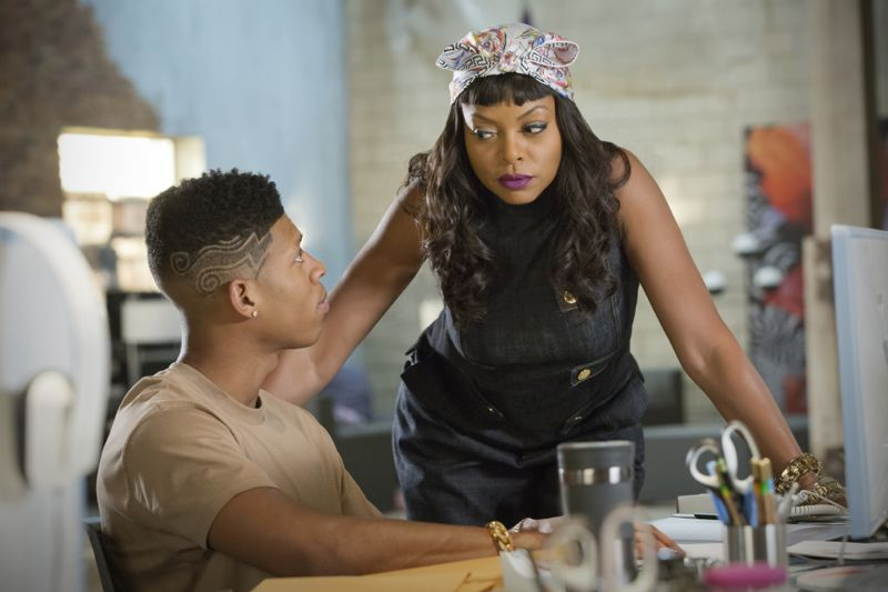 """EMPIRE: Pictured L-R: Bryshere Gray as Hakeem Lyon and Taraji P. Henson as Cookie Lyon in the """"Poor Yorick"""" episode of EMPIRE airing Wednesday, Oct. 14 (9:00-10:00 PM ET/PT) on FOX. ©2015 Fox Broadcasting Co. Cr: Chuck Hodes/FOX."""