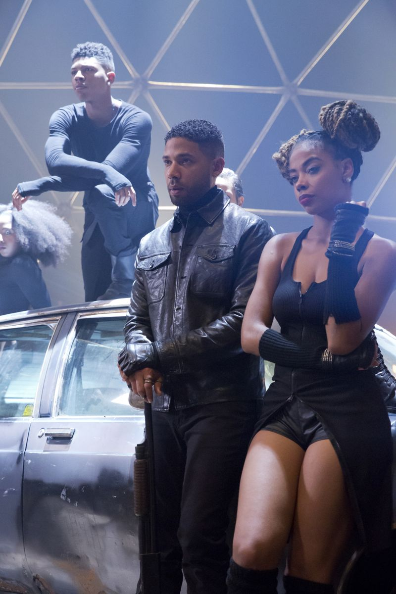 """EMPIRE: Pictured L-R: Bryshere Gray as Hakeem Lyon and Jussie Smollett as Jamal Lyon in the """"Poor Yorick"""" episode of EMPIRE airing Wednesday, Oct. 14 (9:00-10:00 PM ET/PT) on FOX. ©2015 Fox Broadcasting Co. Cr: Chuck Hodes/FOX."""