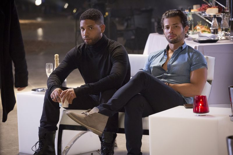 """EMPIRE: Pictured L-R: Jussie Smollett as Jamal Lyon and guest star Rafael de la Fuente as Michael in the """"Poor Yorick"""" episode of EMPIRE airing Wednesday, Oct. 14 (9:00-10:00 PM ET/PT) on FOX. ©2015 Fox Broadcasting Co. Cr: Chuck Hodes/FOX."""