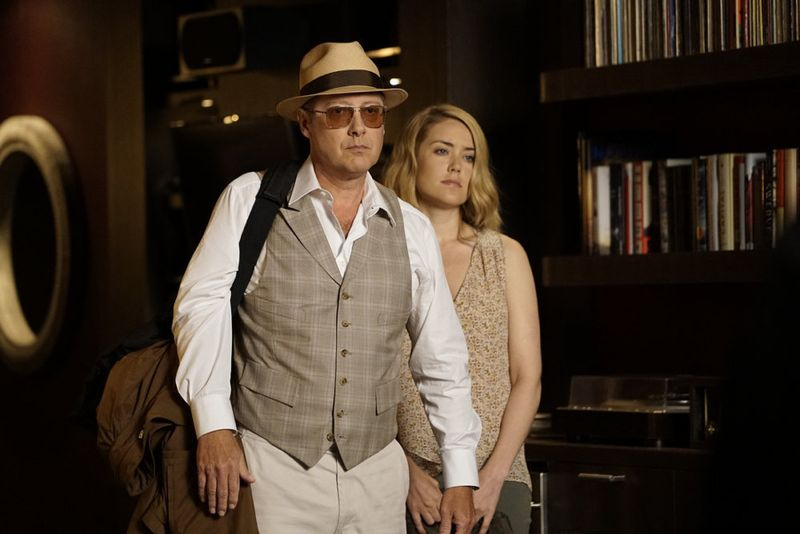 "THE BLACKLIST -- ""Eli Matchett"" Episode 303 -- Pictured: (l-r) James Spader as Red Reddington, Megan Boone as Liz Keen -- (Photo by: Peter Kramer/NBC)"