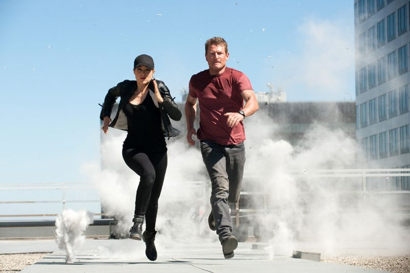 "THE PLAYER -- ""L.A. Takedown"" Episode 102-- Pictured: (l-r) Charity Wakefield as Cassandra, Philip Winchester as Alex -- (Photo by: Colleen Hayes/NBC)"