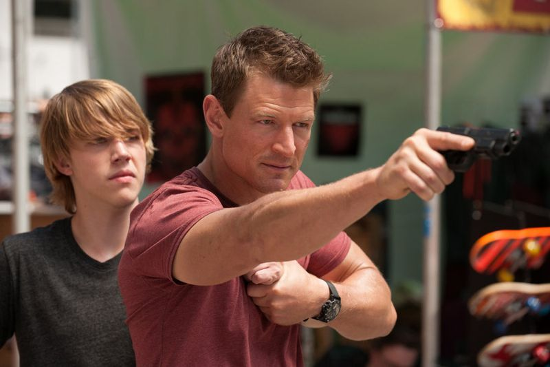 "THE PLAYER -- ""L.A. Takedown"" Episode 102-- Pictured: (l-r) Cody Sullivan as Jake, Philip Winchester as Alex -- (Photo by: Colleen Hayes/NBC)"