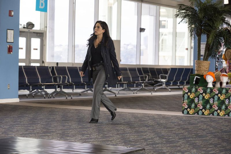 """BLINDSPOT -- """"Bone May Rot"""" Episode 104 -- Pictured: Audrey Esparza as Tasha Zapata -- (Photo by: Christopher Saunders/NBC)"""