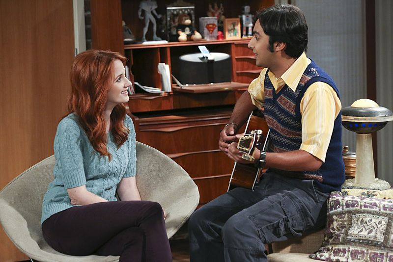 """""""The 2003 Approximation"""" -- Howard and Raj (Kunal Nayyar, right) form a band to play at the Comic Book Store, on THE BIG BANG THEORY, Monday, Oct. 12 (8:00-8:31 PM, ET/PT), on the CBS Television Network. Also Pictured: Laura Spencer Photo: Darren Michaels/Warner Bros. Entertainment Inc. © 2015 WBEI. All rights reserved."""