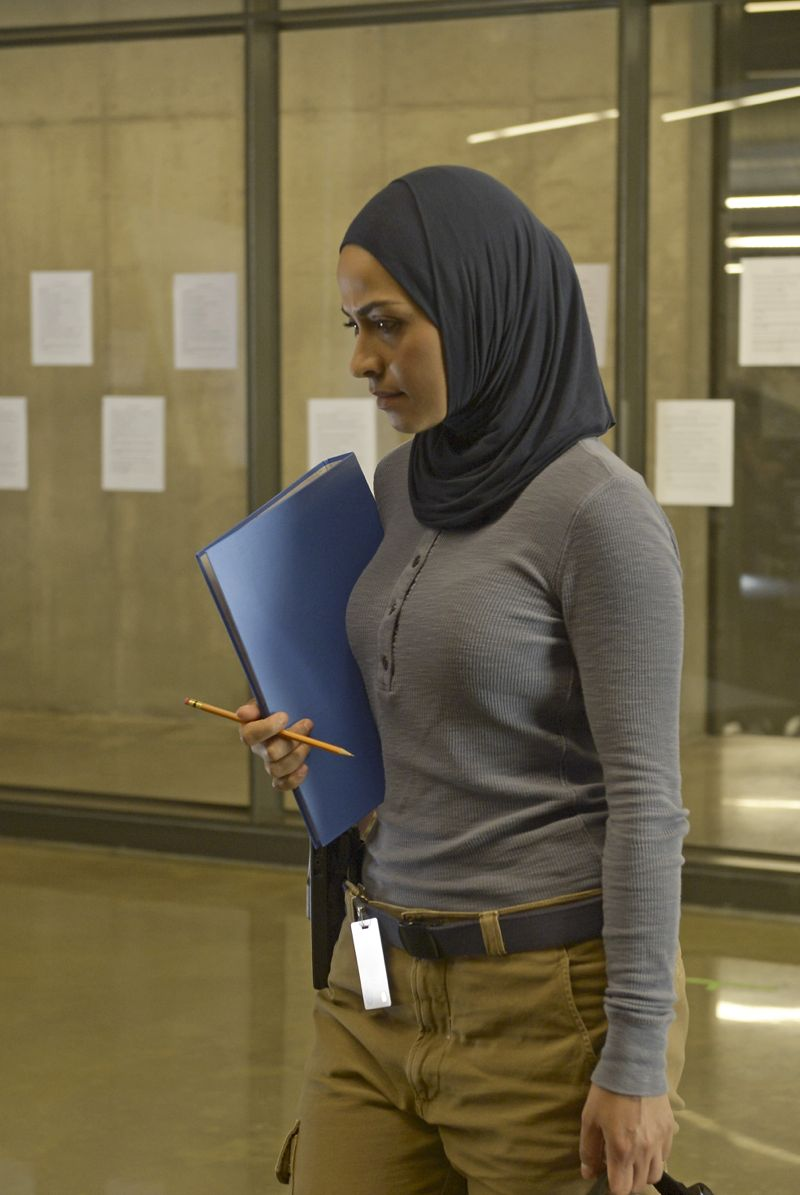 """QUANTICO - """"Cover"""" - At Quantico, Alex finally receives information about her father and his FBI past, but in the future it's her mother, Sita, who plays a key role when Liam convinces her to participate in a press conference on national television begging Alex to turn herself in. Also at """"Quantico,"""" the NATS learn the art of profiling and focus on their classmates' strengths and weaknesses, ultimately challenging their confidence and comradery, on """"Quantico"""" SUNDAY, OCTOBER 11 (10:00--11:00 p.m., ET) on the ABC Television Network. (ABC/Phillipe Bosse) YASMINE AL MASSRI"""