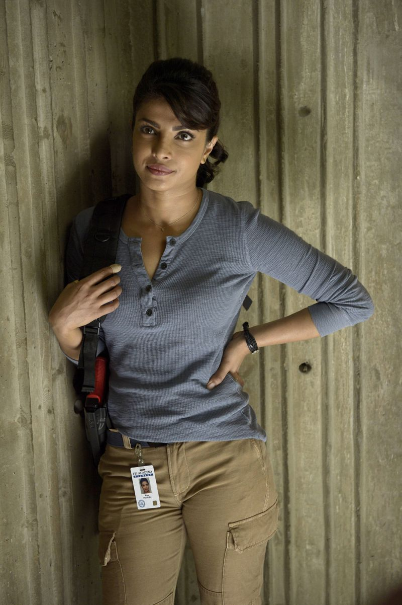 """QUANTICO - """"Cover"""" - At Quantico, Alex finally receives information about her father and his FBI past, but in the future it's her mother, Sita, who plays a key role when Liam convinces her to participate in a press conference on national television begging Alex to turn herself in. Also at """"Quantico,"""" the NATS learn the art of profiling and focus on their classmates' strengths and weaknesses, ultimately challenging their confidence and comradery, on """"Quantico"""" SUNDAY, OCTOBER 11 (10:00--11:00 p.m., ET) on the ABC Television Network. (ABC/Phillipe Bosse) PRIYANKA CHOPRA"""