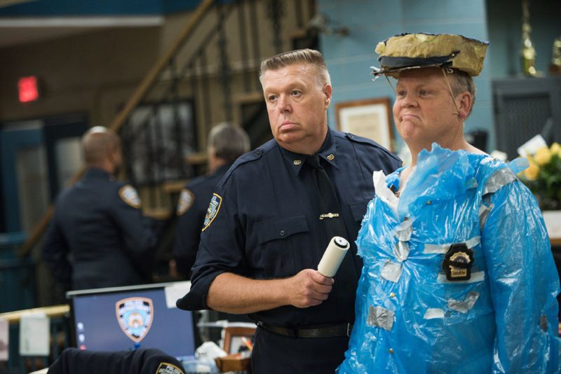 """BROOKLYN NINE-NINE: (L-R) Scully (Joel McKinnon Miller) and Hitchcock (Dirk Blocker) in the """"The Funeral"""" episode of BROOKLYN NINE-NINE airing Sunday, Oct. 4 (8:30-9:00 PM ET/PT) on FOX. ©2015 Fox Broadcasting Co. CR: Eddy Chen/FOX."""
