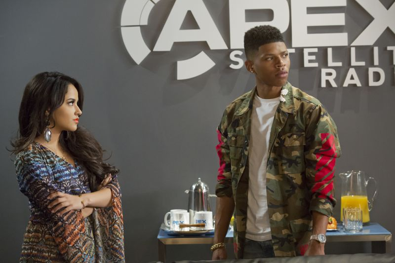 """EMPIRE: Pictured L-R: Guest star Becky G as Valentina and Bryshere Gray as Hakeem Lyon in the """"Fires Of Heaven"""" episode of EMPIRE airing Wednesday, Oct. 7 (9:00-10:00 PM ET/PT) on FOX. ©2015 Fox Broadcasting Co. Cr: Chuck Hodes/FOX."""