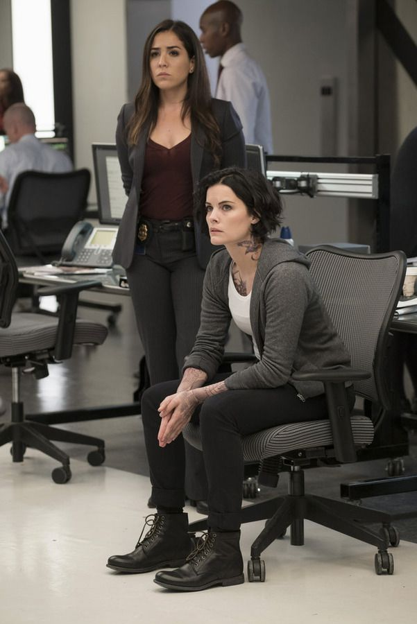 "BLINDSPOT -- ""Persecute Envoys"" Episode 108 -- Pictured: (l-r) Audrey Esparza as Tasha Zapata, Jaimie Alexander as Jane Doe -- (Photo by: Peter Kramer/NBC)"