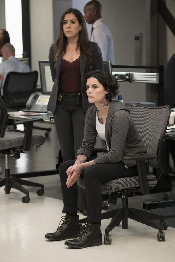 "BLINDSPOT -- ""Persecute Envoys"" Episode 108 -- Pictured: (l-r) Audrey Esparza as Tasha Zapata, Jaimie Alexander as Jane Doe -- (Photo by: Peter Kramer/NBC)"