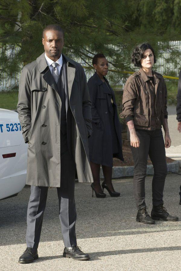 "BLINDSPOT -- ""Persecute Envoys"" Episode 108 -- Pictured: (l-r) Rob Brown as Edgar Reed, Marianne Jean-Baptiste as Bethany Mayfair, Jaimie Alexander as Jane Doe -- (Photo by: Barbara Nitke/NBC)"