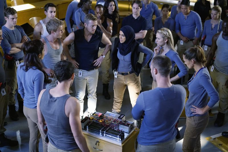 "QUANTICO - ""Go"" - It's midterm exam time at Quantico where the NATS are given an explosive assignment which results in some people going home for good. In the future, Alex continues to try and clear her name, finding Nimah and Raina who provide more questions than answers leaving Alex and the world to wonder, ""who can you really trust?"" on ""Quantico"" SUNDAY, NOVEMBER 8 (10:01-11:00 ET) on the ABC Television Network. (ABC/Jonathan Wenk) PRIYANKA CHOPRA, GRAHAM ROGERS, RICK COSNETT, YASMINE AL MASSRI, JOHANNA BRADDY, ANABELLE ACOSTA"