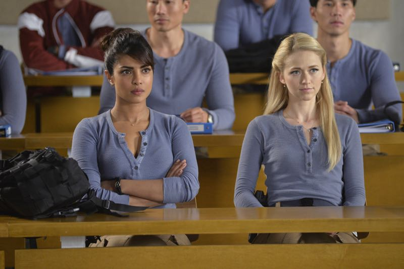 "QUANTICO - ""Go"" - It's midterm exam time at Quantico where the NATS are given an explosive assignment which results in some people going home for good. In the future, Alex continues to try and clear her name, finding Nimah and Raina who provide more questions than answers leaving Alex and the world to wonder, ""who can you really trust?"" on ""Quantico"" SUNDAY, NOVEMBER 8 (10:01-11:00 ET) on the ABC Television Network. (ABC/Jonathan Wenk) PRIYANKA CHOPRA, JOHANNA BRADDY"