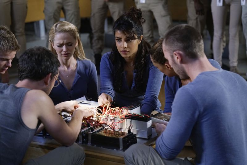 """QUANTICO - """"Go"""" - It's midterm exam time at Quantico where the NATS are given an explosive assignment which results in some people going home for good. In the future, Alex continues to try and clear her name, finding Nimah and Raina who provide more questions than answers leaving Alex and the world to wonder, """"who can you really trust?"""" on """"Quantico"""" SUNDAY, NOVEMBER 8 (10:01-11:00 ET) on the ABC Television Network. (ABC/Jonathan Wenk) GRAHAM ROGERS, TATE ELLINGTON, JOHANNA BRADDY, PRIYANKA CHOPRA, ANABELLE ACOSTA, JAKE MCLAUGHLIN"""