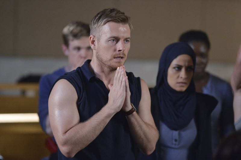"QUANTICO - ""Go"" - It's midterm exam time at Quantico where the NATS are given an explosive assignment which results in some people going home for good. In the future, Alex continues to try and clear her name, finding Nimah and Raina who provide more questions than answers leaving Alex and the world to wonder, ""who can you really trust?"" on ""Quantico"" SUNDAY, NOVEMBER 8 (10:01-11:00 ET) on the ABC Television Network. (ABC/Jonathan Wenk) RICK COSNETT, YASMINE AL MASSRI"