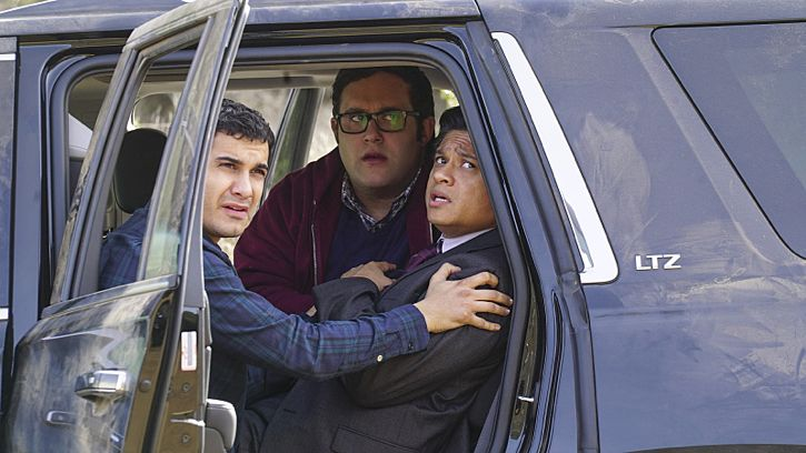 """Adaptation"" -- While Team Scorpion works to stop an influx of drugs being smuggled into the country via drones, Walter gives Happy and Toby an ultimatum on their new relationship, on SCORPION, Monday, Feb. 22 (9:00-9:59 PM, ET/PT) on the CBS Television Network. Pictured: Elyes Gabel as Walter O'Brien, Ari Stidham as Sylvester Dodd, Jorge-Luis Pallo as DEA Agent Sanchez. Photo: Monty Brinton/CBS ©2016 CBS Broadcasting, Inc. All Rights Reserved"