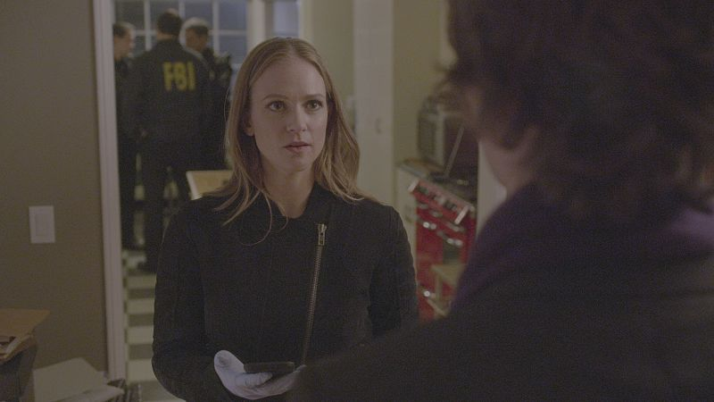 """A Badge and a Gun"" -- The BAU searches Los Angeles after the team discovers security footage that shows an UnSub being invited into victims' homes, on CRIMINAL MINDS, Wednesday, Feb. 24 (9:00-10:00 PM, ET/PT) on the CBS Television Network. Marisol Nichols returns as Agent Natalie Colfax. Carmine Giovinazzo (""CSI: NY"") guest stars as Andrew Meeks, a former janitor. Photo: CBS ©2015 CBS Broadcasting, Inc. All Rights Reserved"