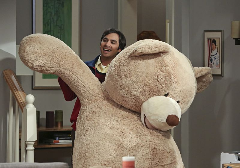 """The Big Bear Precipitation"" -- When Koothrappali (Kunal Nayyar, pictured) goes overboard with pregnancy gifts, Wolowitz and Bernadette must draw the line, on THE BIG BANG THEORY, Thursday, April 7 (8:00-8:31 PM, ET/PT) on the CBS Television Network. Photo: Michael Yarish/Warner Bros. Entertainment Inc. © 2016 WBEI. All rights reserved."