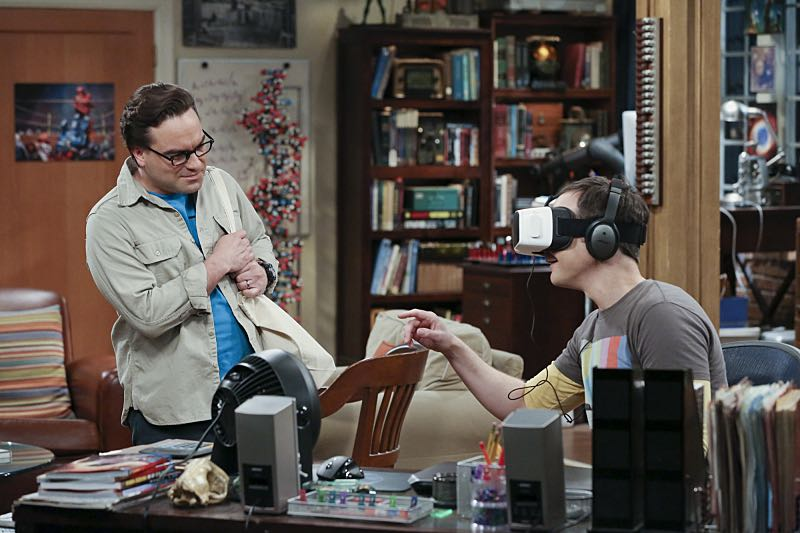 """The Big Bear Precipitation"" -- Sheldon (Jim Parsons, right) spills a secret of Leonard's (Johnny Galecki, left) when the two take a weekend cabin trip with Penny and Amy, on THE BIG BANG THEORY, Thursday, April 7 (8:00-8:31 PM, ET/PT) on the CBS Television Network. Photo: Michael Yarish/Warner Bros. Entertainment Inc. © 2016 WBEI. All rights reserved."