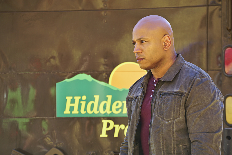 """Head of the Snake"" -- Pictured: LL COOL J (Special Agent Sam Hanna). After Operational Psychologist Nate Getz (Peter Cambor) fails to check in with Hetty while working undercover on a mission linking organized crime to terrorism, the team learns he is working with an infamous crime leader, on NCIS: LOS ANGELES, Monday, April 11 (9:59-11:00, ET/PT), on the CBS Television Network. Photo: Monty Brinton/CBS ©2016 CBS Broadcasting, Inc. All Rights Reserved."