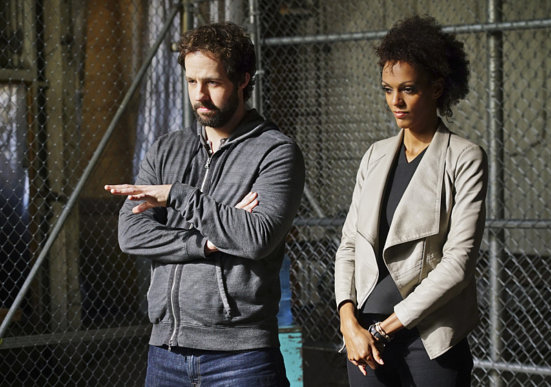"""Head of the Snake"" -- Pictured: Peter Cambor (Operational Psychologist Nate Getz and Judith Shekoni (Alisa Chambers). After Operational Psychologist Nate Getz (Peter Cambor) fails to check in with Hetty while working undercover on a mission linking organized crime to terrorism, the team learns he is working with an infamous crime leader, on NCIS: LOS ANGELES, Monday, April 11 (9:59-11:00, ET/PT), on the CBS Television Network. Photo: Monty Brinton/CBS ©2016 CBS Broadcasting, Inc. All Rights Reserved."