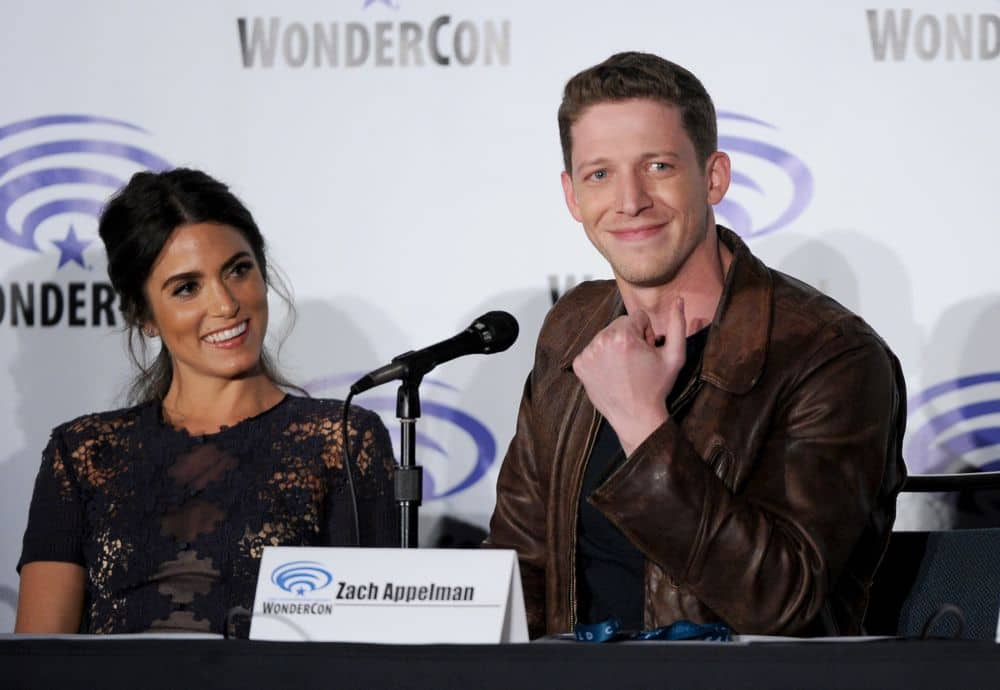 FOX FANFARE AT WONDERCON® LOS ANGELES 2016: L-R: SLEEPY HOLLOW cast members Nikki Reed and Zach Appelman speak to fans during WonderCon® Los Angeles 2016 panel on Saturday, March 26 at the FOX FANFARE AT WONDERCON® LOS ANGELES 2016 at the Los Angeles Convention Center in Los Angeles, CA. CR: Frank Micelotta/FOX © 2016 FOX BROADCASTING