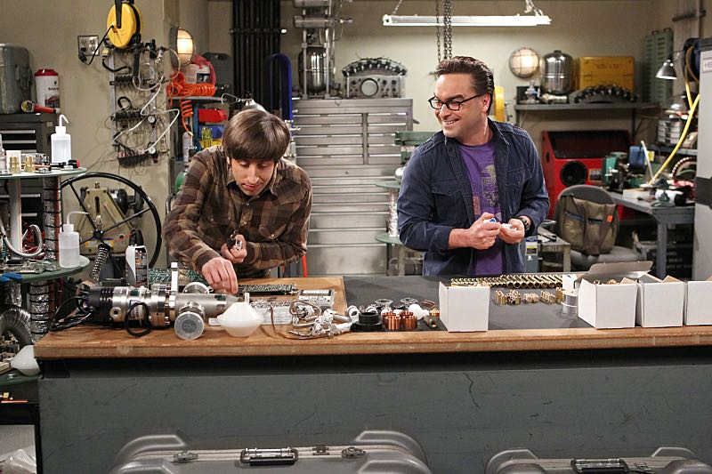 """""""The Solder Excursion Diversion"""" -- Koothrappali sells out Leonard (Johnny Galecki, right) and Wolowitz (Simon Helberg, left) after they lie to their wives in order to attend an early screening of a movie, on THE BIG BANG THEORY, Thursday, March 31 (8:00-8:31 PM, ET/PT) on the CBS Television Network. Photo: Sonja Flemming/CBS ©2016 CBS Broadcasting, Inc. All Rights Reserved"""