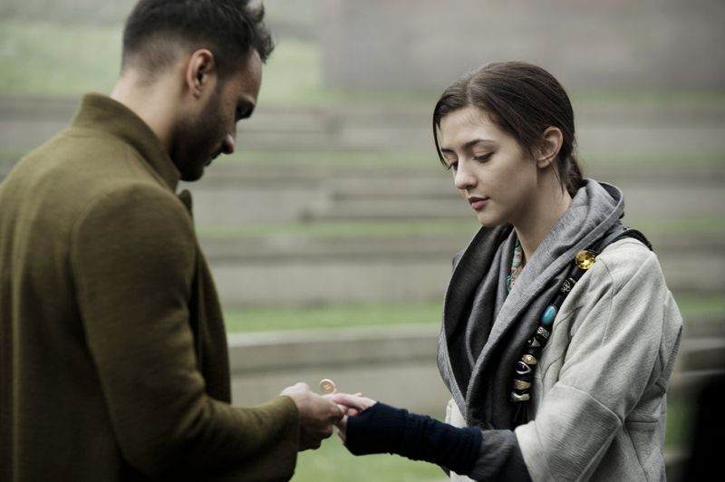 """THE MAGICIANS -- """"Homecoming"""" Episode 110 -- Pictured: (l-r) Arjun Gupta as Penny, Katie Findlay as Eve -- (Photo by: Carole Segal/Syfy)"""