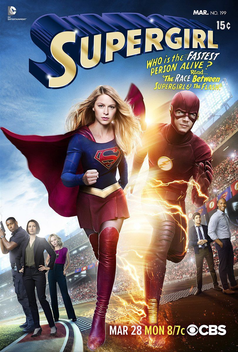 Supergirl The Flash Crossover Poster