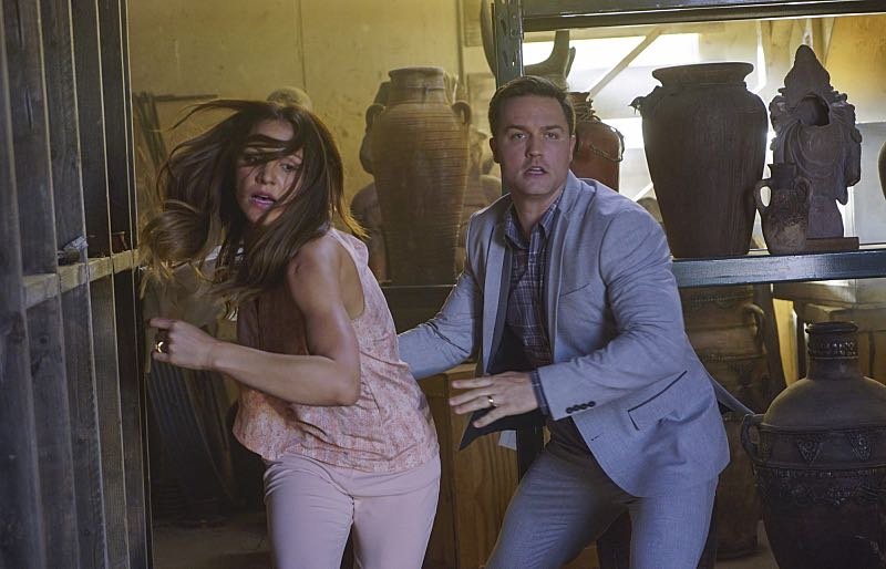 """""""Djibouti Call"""" -- While on a secret mission in Djibouti, Africa, with his new Homeland protégé, Tim Armstrong (Scott Porter), Cabe is captured and Team Scorpion must save him, on SCORPION, Monday, March 21 (9:00-9:59 PM, ET/PT) on the CBS Television Network.   Pictured: Katharine McPhee as Paige Dineen, Tim Armstrong as Scott Porter.    Photo: Sonja Flemming/CBS ©2016 CBS Broadcasting, Inc. All Rights Reserved"""