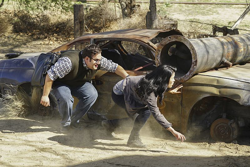 """""""Djibouti Call"""" -- While on a secret mission in Djibouti, Africa, with his new Homeland protégé, Tim Armstrong (Scott Porter), Cabe is captured and Team Scorpion must save him, on SCORPION, Monday, March 21 (9:00-9:59 PM, ET/PT) on the CBS Television Network.   Pictured: Ari Stidham as Sylvester Dodd, Jadyn Wong as Happy Quinn.  Photo: Sonja Flemming/CBS ©2016 CBS Broadcasting, Inc. All Rights Reserved"""