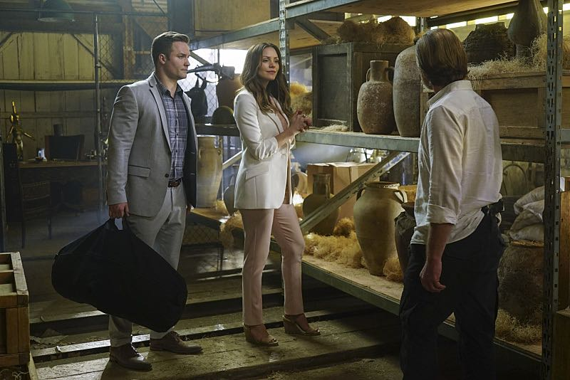 """""""Djibouti Call"""" -- While on a secret mission in Djibouti, Africa, with his new Homeland protégé, Tim Armstrong (Scott Porter), Cabe is captured and Team Scorpion must save him, on SCORPION, Monday, March 21 (9:00-9:59 PM, ET/PT) on the CBS Television Network.   Pictured: Tim Armstrong as Scott Porter, Katharine McPhee as Paige Dineen.    Photo: Sonja Flemming/CBS ©2016 CBS Broadcasting, Inc. All Rights Reserved"""