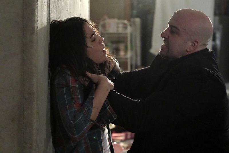 """BLINDSPOT -- """"Rules In Defiance"""" Episode 114 -- Pictured: (l-r) Audrey Esparza as Zapata, Anthony Ferretti as Tall Guard -- (Photo by: Giovanni Rufino/NBC)"""