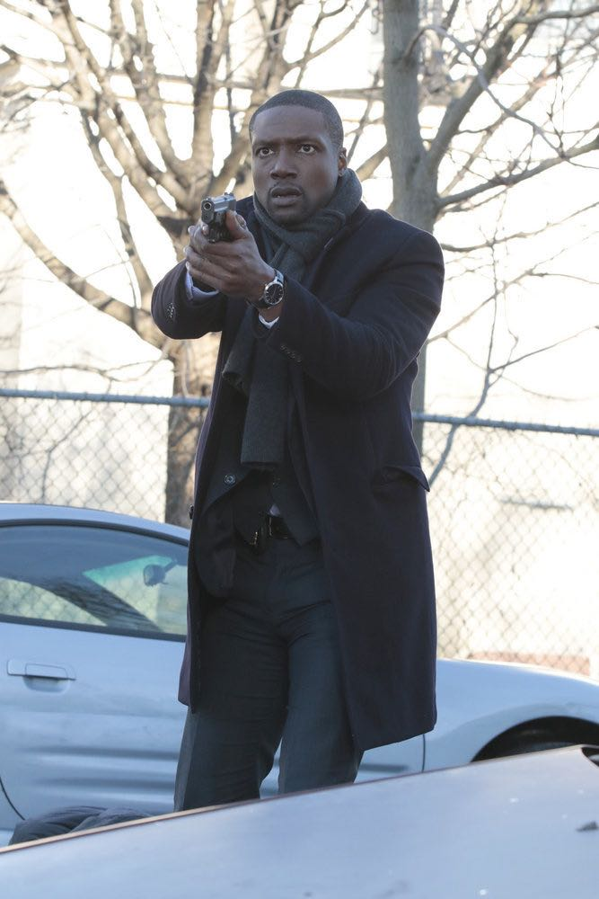 """BLINDSPOT -- """"Rules In Defiance"""" Episode 114 -- Pictured: Rob Brown as Reade -- (Photo by: Giovanni Rufino/NBC)"""