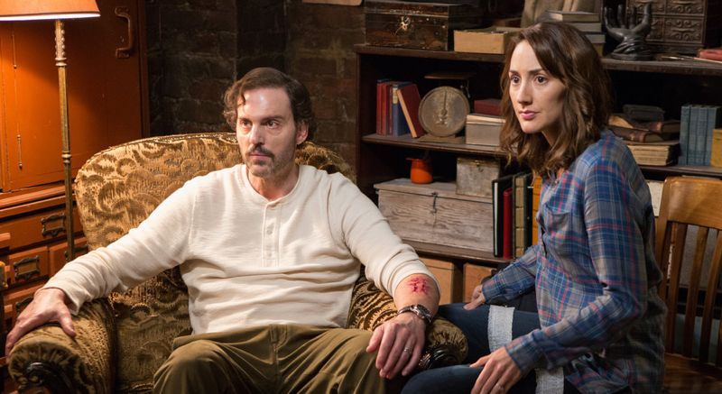 "GRIMM -- ""Into The Schwarzwald"" Episode 512 -- Pictured: (l-r) Silas Weir Mitchell as Monroe, Bree Turner as Rosalee Calvert -- (Photo by: Scott Green/NBC)"