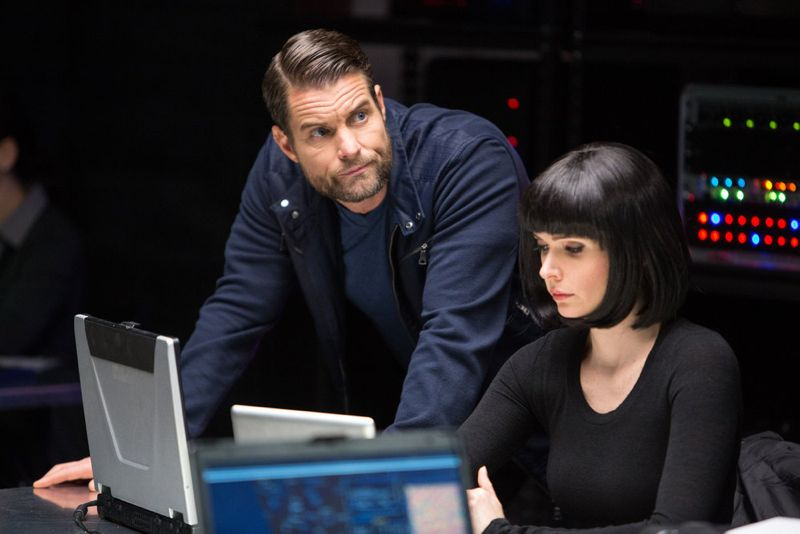 """GRIMM -- """"Into The Schwarzwald"""" Episode 512 -- Pictured: (l-r) Damien Puckler as Meisner, Bitsie Tulloch as Juliette Silverton -- (Photo by: Scott Green/NBC)"""