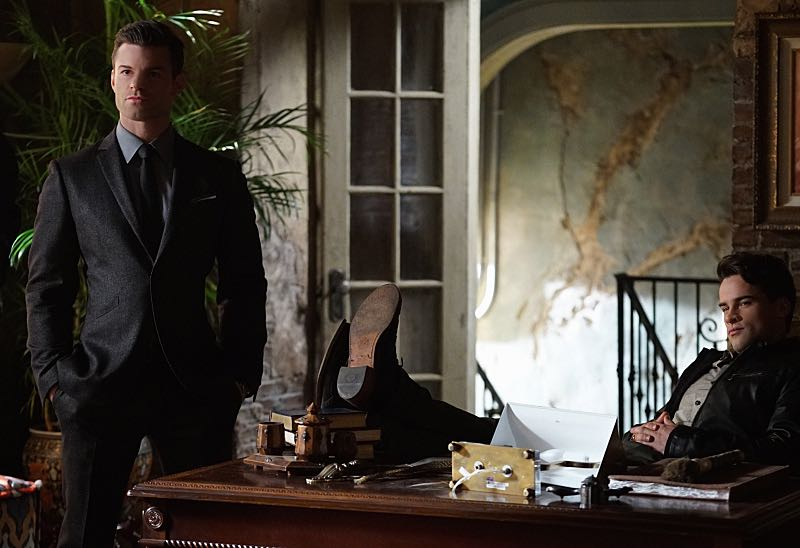 "The Originals -- ""Alone With Everybody"" -- Image Number: OG316a_0312.jpg -- Pictured (L-R): Daniel Gillies as Elijah and Andrew Lees as Lucien -- Photo: Annette Brown/The CW -- © 2016 The CW Network, LLC. All rights reserved."
