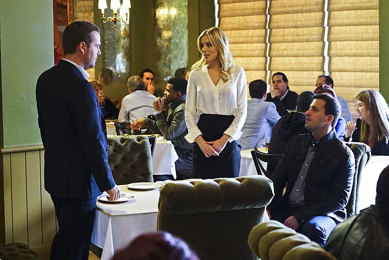 """Exchange Rate"" -- Pictured: Chris O'Donnell (Special Agent G. Callen), Bar Paly (Anastasia ""Anna"" Kolcheck) and Juan Javier Cardenas (Ricardo Pena/Roman Nulishkin). When a convicted Cuban spy escapes U.S. custody just before he is set to return to his country in a prisoner exchange, the team is shocked to learn that Anna (Bar Paly) helped him break out. Also, Deeks admits to Kensi that he thinks she is too messy, on NCIS: LOS ANGELES, Monday, March 14 (9:59-11:00 PM, ET/PT), on the CBS Television Network. Photo: Sonja Flemming/CBS ©2016 CBS Broadcasting, Inc. All Rights Reserved."