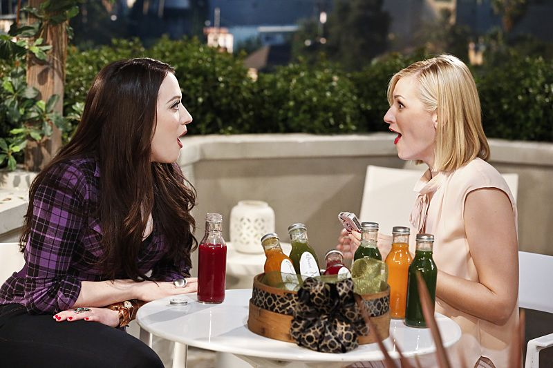 """And the Great Escape"" -- Pictured: Max Black (Kat Dennings) and Caroline Channing (Beth Behrs). As Max pet sits Randy's dog, Bruno, at his Hollywood Hills home, and Caroline sets up meetings with actresses who are interested in playing her in the potential biopic, Bruno escapes while a cannibalistic serial killer is loose in their neighborhood, on 2 BROKE GIRLS, Thursday, March 10 (9:30-10:00 PM, ET/PT) on the CBS Television Network. Photo: Robert Voets/CBS ©2016 CBS Broadcasting, Inc. All Rights Reserved."